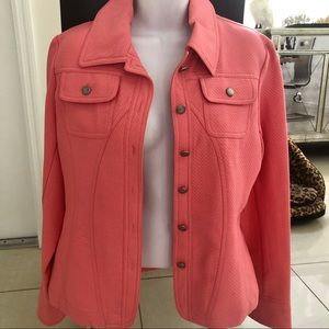 Multiples coral textured classic jacket S
